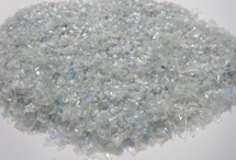 Hot washed clear PET flake